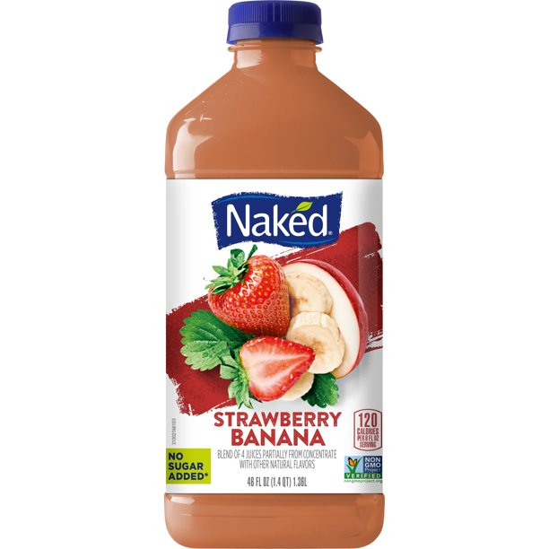 Naked Pure Fruit Strawberry Banana Juice Smoothie From H-E