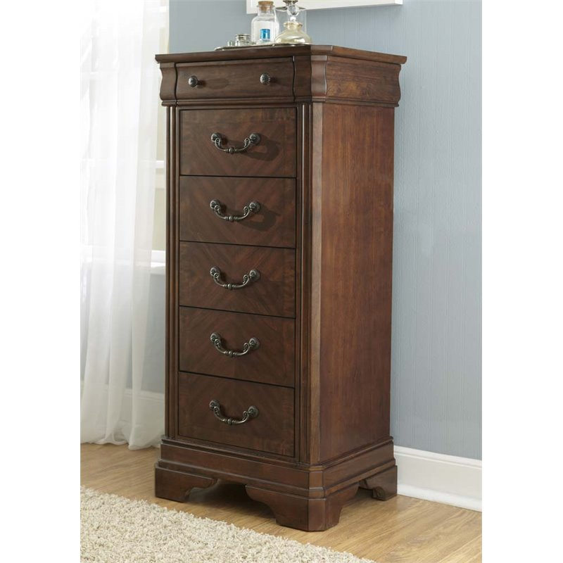 Liberty Furniture Alexandria 6 Drawer Lingerie Chest in Autumn Brown