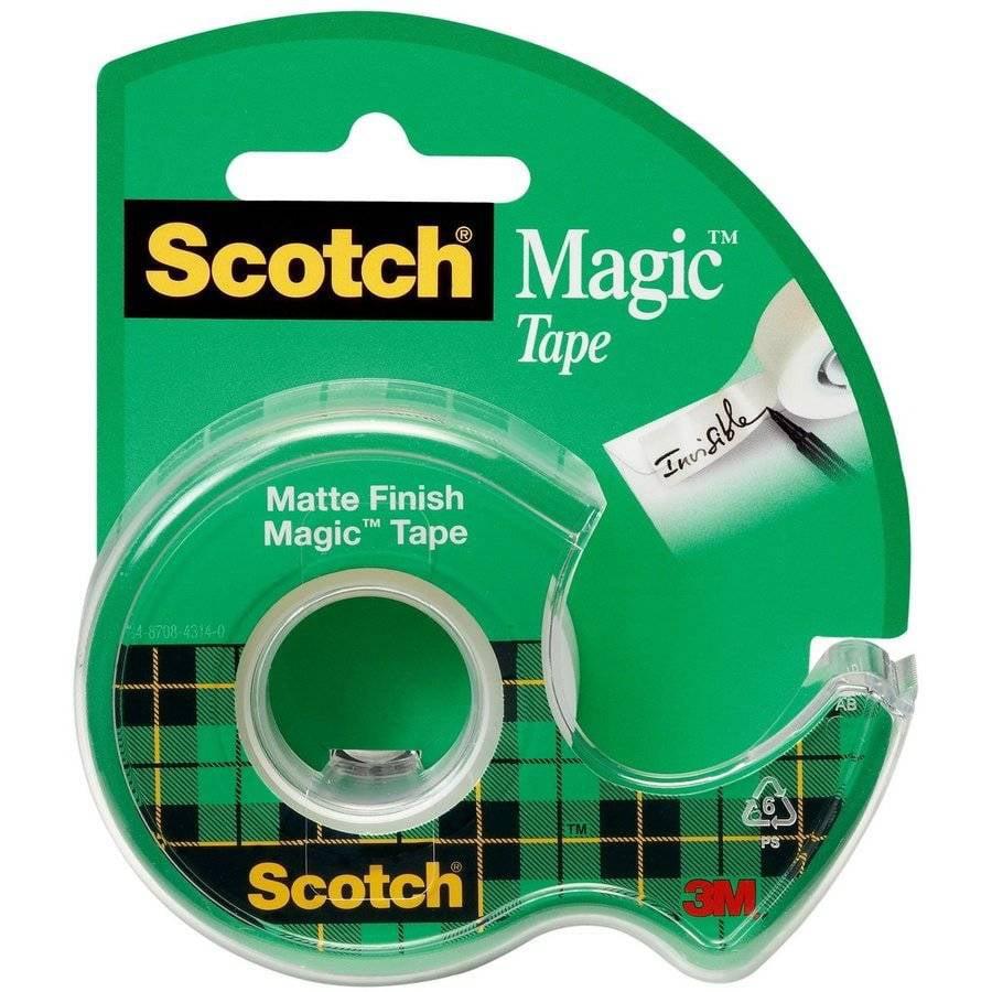 """Scotch 0.75"""" x 650"""" Magic Tape Dispenser, 1 Each"""