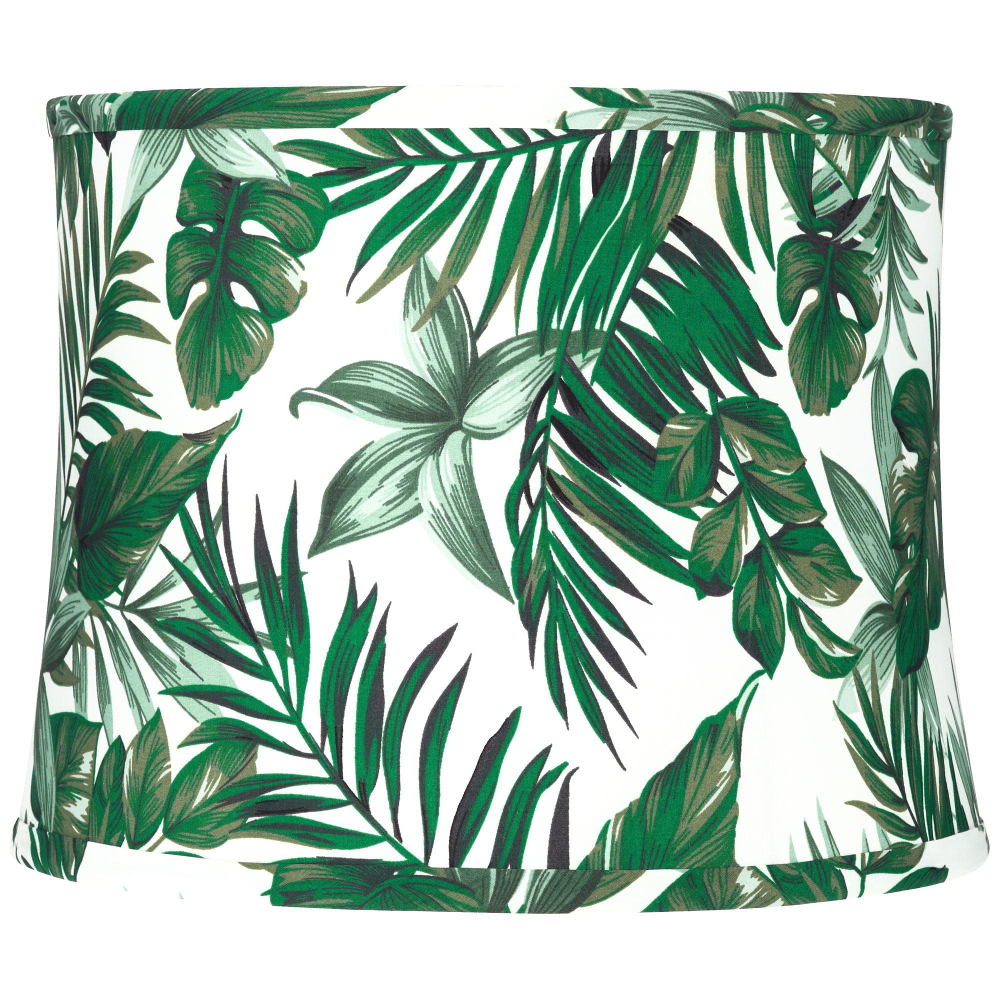 Springcrest Manaus Green Tropical Drum Lamp Shade 12x13x10 (Spider)