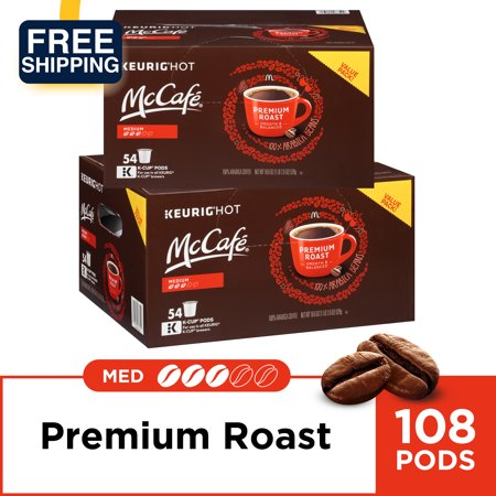 Coffee Pods Super Automatic Machines ((2 Pack) McCafe Premium Roast Coffee K-Cup Coffee Pods 54 ct Box (108 Total Coffee Pods) )