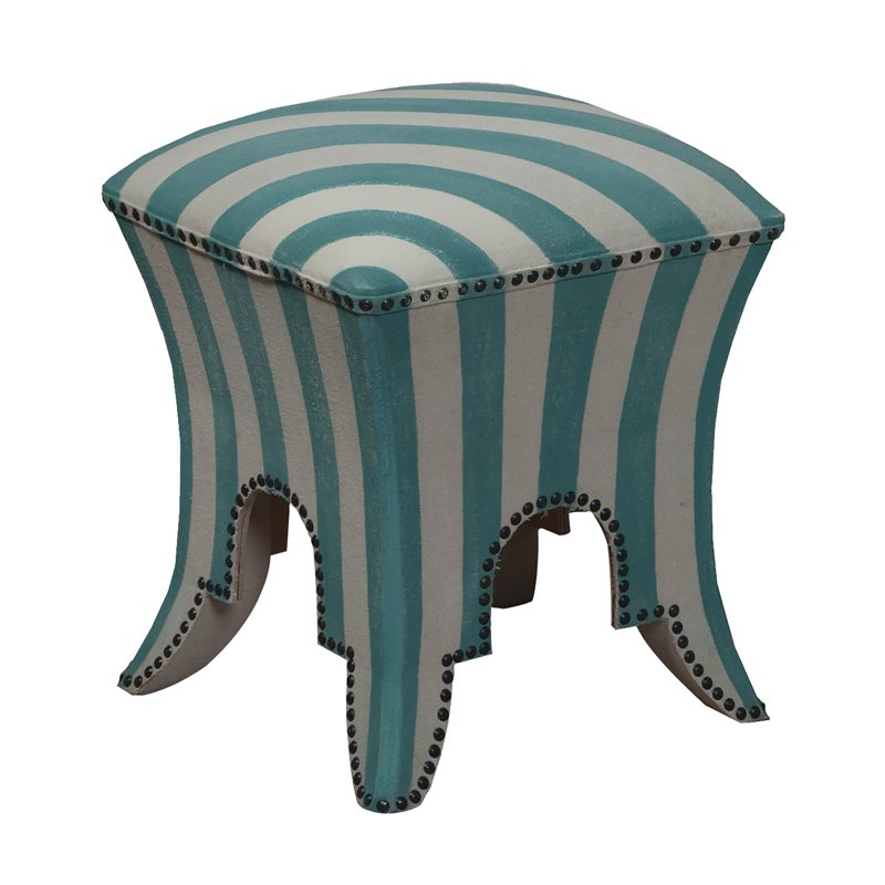 GuildMaster Princess Stool in Blue and White