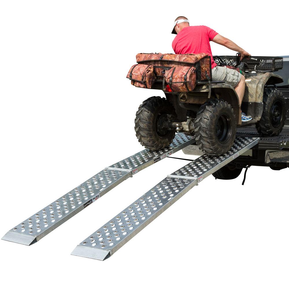 "Aluminum Dual Runner 144"" x 14"" Big Boy EZ Rizer ATV Loading Ramps"