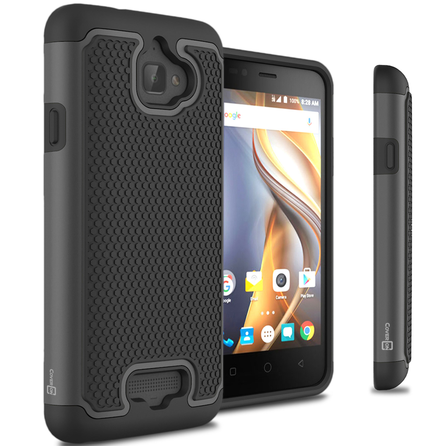 CoverON Coolpad Catalyst Case, HexaGuard Series Hard Phone Cover