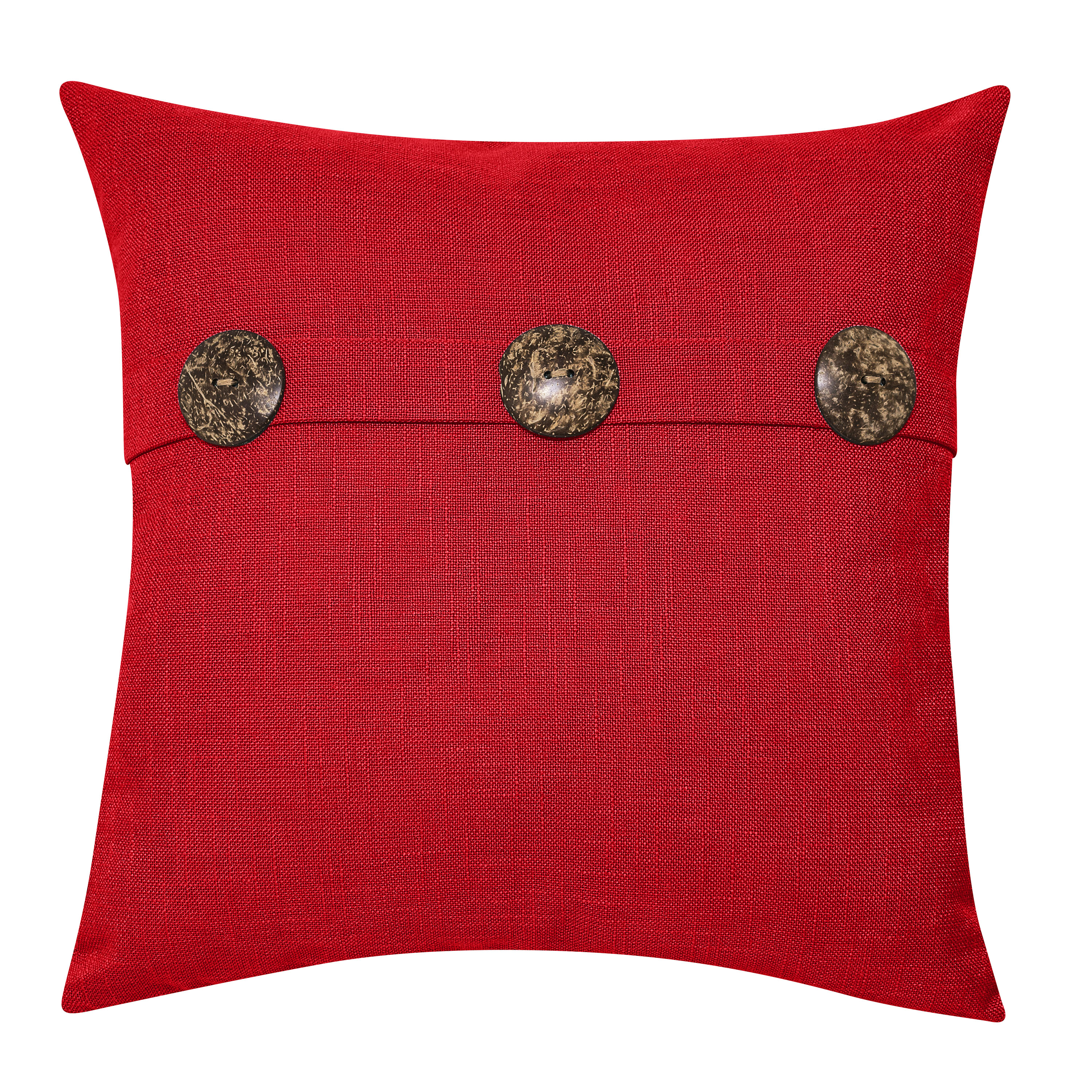 "Better Homes & Gardens Feather Filled Three Button Decorative Throw Pillow, 20"" x 20"", Ivory"