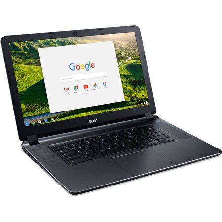 "Acer CB3-532-C47C 15.6"" Chromebook, Chrome OS, Intel Celeron N3060 Dual-Core Processor, 2GB RAM, 16GB Internal Storage"
