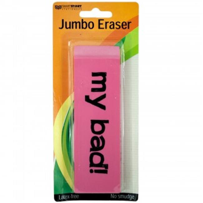 Bulk Buys SC027-96 Jumbo Pink Eraser - 96 Piece