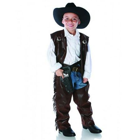 Cowboy Chaps Vest Fringed Western Toddler Halloween Costume - Xl (4-6)