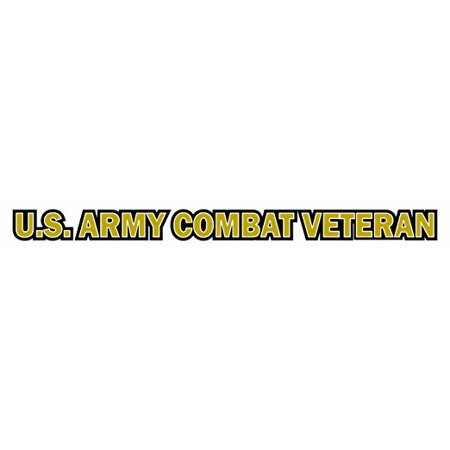 Magnet u s army combat veteran window strip decal magnetic sticker 20 inch