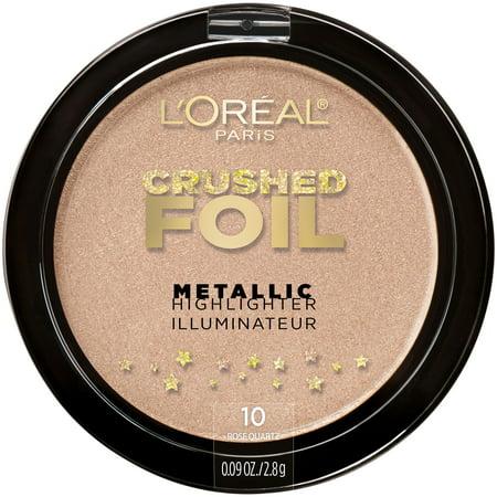 L'Oreal Paris Crushed Foils Metallic Highlighter, Rose Quartz ()