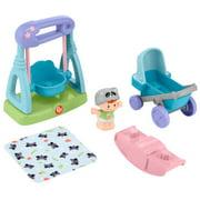 Fisher-Price Little People Swing & Stroll Babies Pretend Playset & Figure