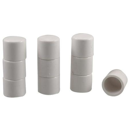 Unique Bargains 20mm PVC Water Hose Pipe Adapter Coupler Stop End 10 Pcs