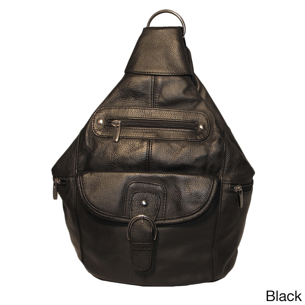 CONTINENTAL LEATHER Convertible Leather Backpack Shoulder Bag