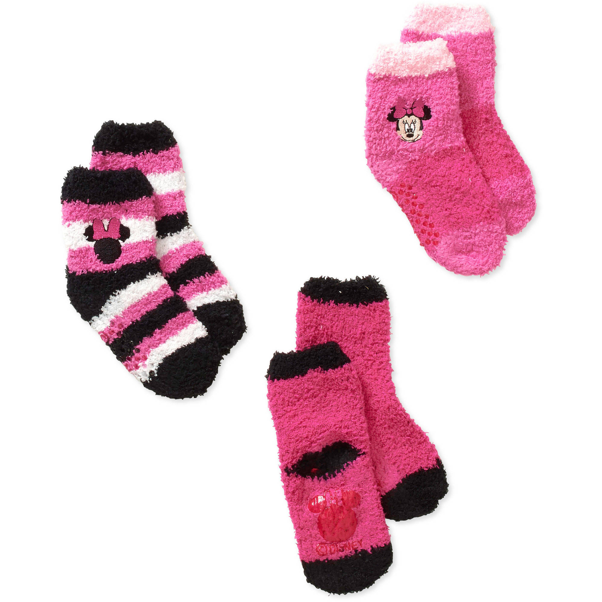 Minnie Baby Toddler Girl Quarter Softee  Socks - 3 Pack
