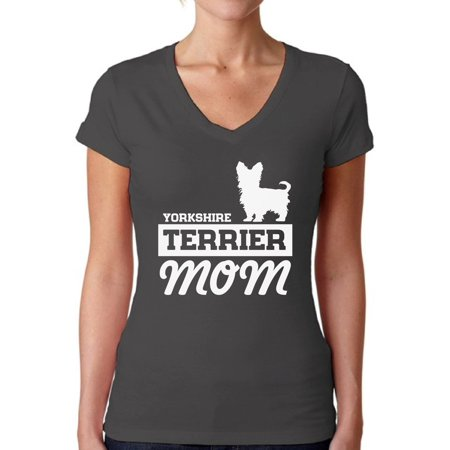 Awkward Styles Women's Yorkshire Terrier Mom V-neck T-shirt Yorkie - Yorkshire Terrier Sweatshirt