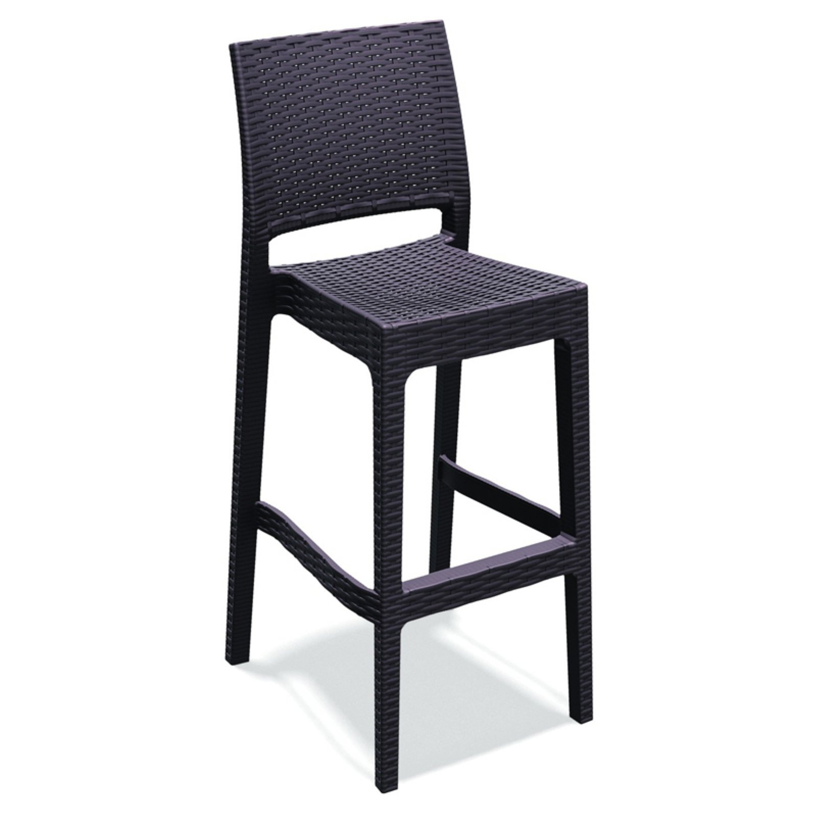 Compamia Jamaica Resin Wicker Barstool with Optional Cushion