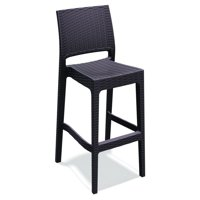Compamia Jamaica Resin Wicker Barstool with Optional Cushion - Set of 2