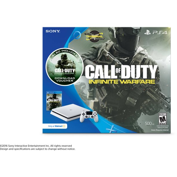 Sony Playstation 4 Slim 500gb Call Of Duty Infinite Warfare Bundle White 3001519 Walmart Com Walmart Com