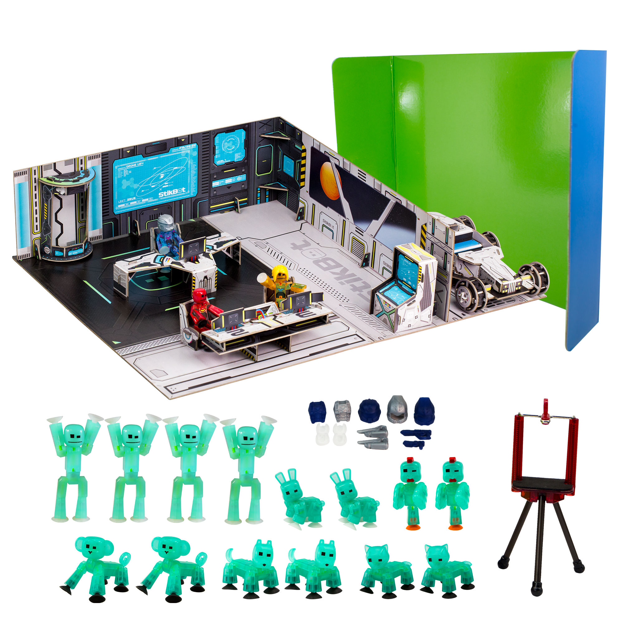 Stikbot Deluxe Movie Set Space Scene by Zing