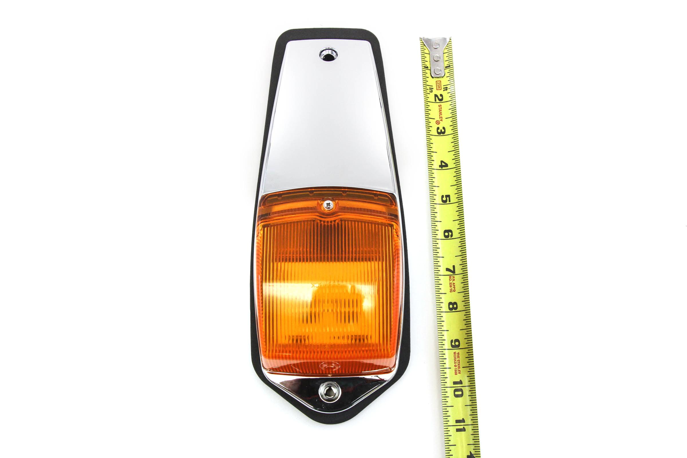 10 pcs Amber Chrome 31 LED Cab Marker Lights for Peterbilt Kenworth Freightliner
