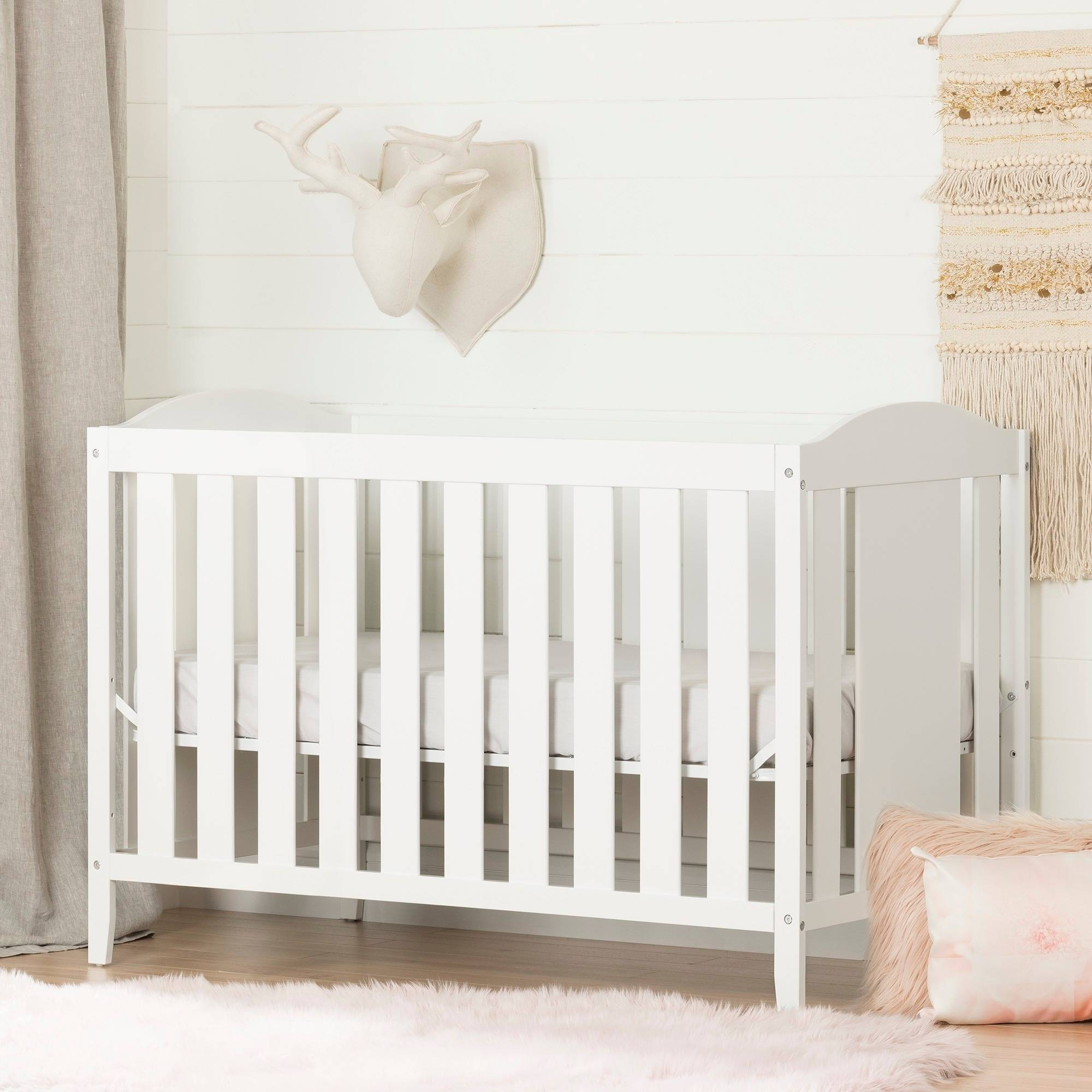 South Shore Angel 2-in-1 Convertible Crib, Multiple Finishes