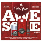 Old Spice Swagger Antiperspirant and Deodorant + Body Wash + Body Spray, Gift Pack