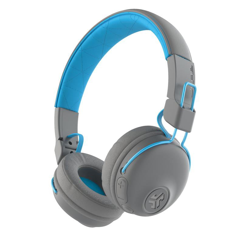JLab Audio Studio Bluetooth Wireless On-Ear Headphones - Blue/Gray