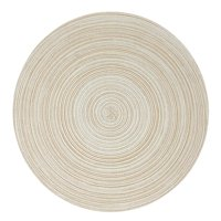 "Wrapables 15"" Woven Round Placemats (Set of 6), Beige"