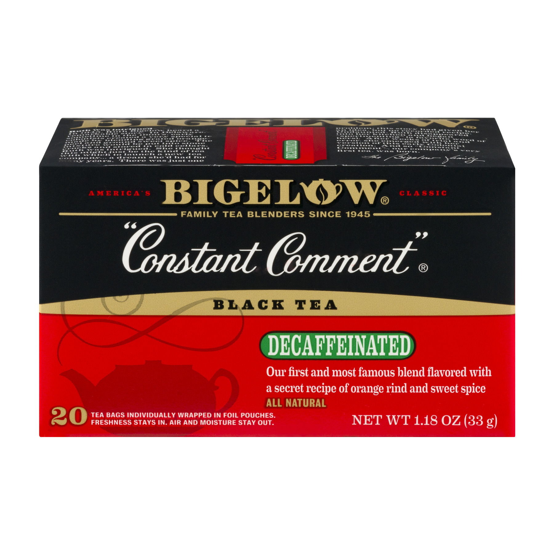 Bigelow Constant Comment Black Tea Decaffeinated - 20 CT20.0 CT