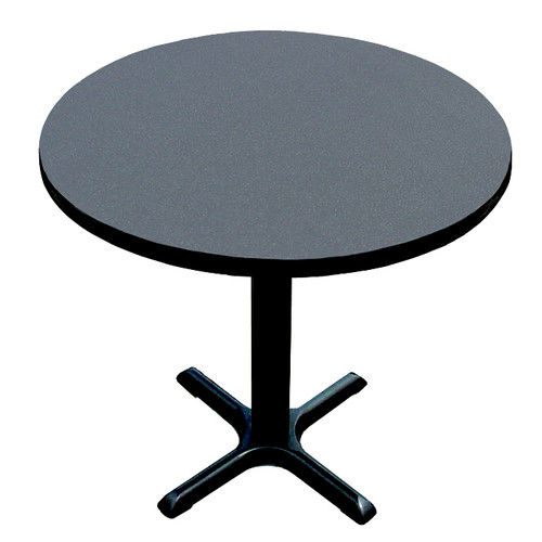 Correll, Inc. High Round Bar and Caf  Table with X Base and Column
