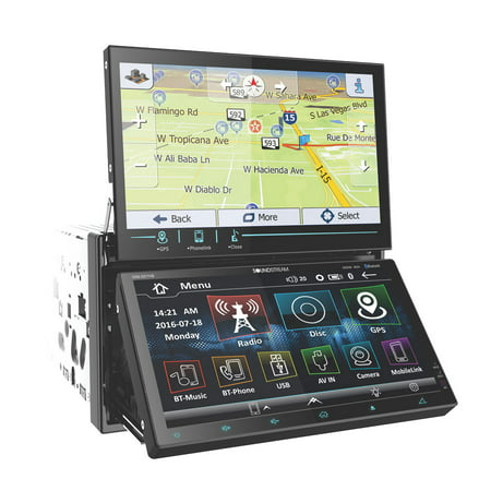 SoundStream VRN-DD7HB 2 DIN GPS Navigation and Audio System w/ LCD Touch Screens
