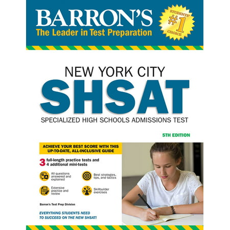 Barron's SHSAT : New York City Specialized High Schools Admissions (Division Book)