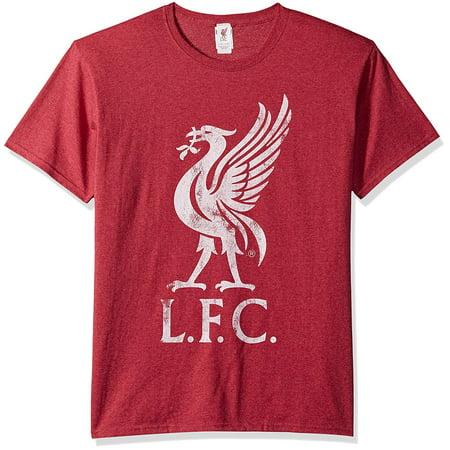 Liverpool Fc Home Shirt - FC Liverpool Men's Bird Logo Slim-Fit T-Shirt Heather Red