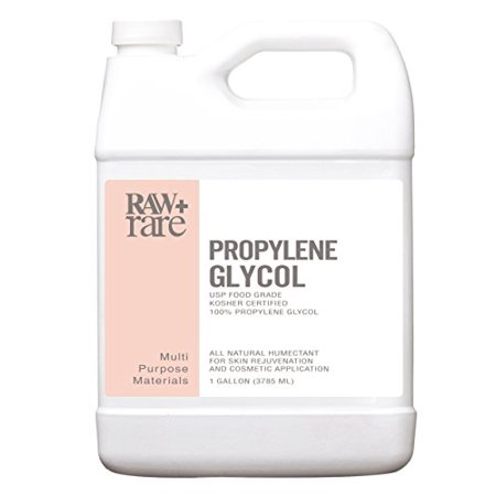 Propylene Glycol Gallon Food Grade 100% Pure USP Solution, Kosher, Humidor, Humectant, Fog Machine & Antifreeze by Raw Plus Rare (Gallon)