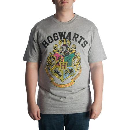 Harry Potter Big Men's Hogwarts Crest Graphic T-Shirt, Up To 6XL](Harry Potter Dressing Up Clothes)
