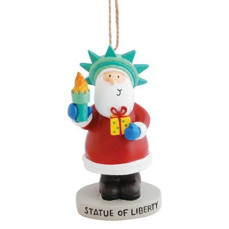 Holiday Santa Posing As Statute of Liberty New York NY Resin Christmas Ornament ()