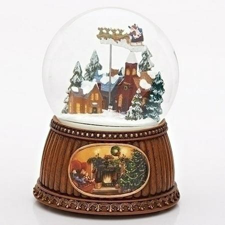 Roman 34360 Animated Musical Santa's Sleigh Snow Globe ()