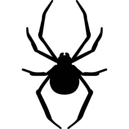 Pack of 3 Spider Stencils Made from 4 Ply Mat Board 11x14, 8x10, 5x7](Halloween Spider Stencil)