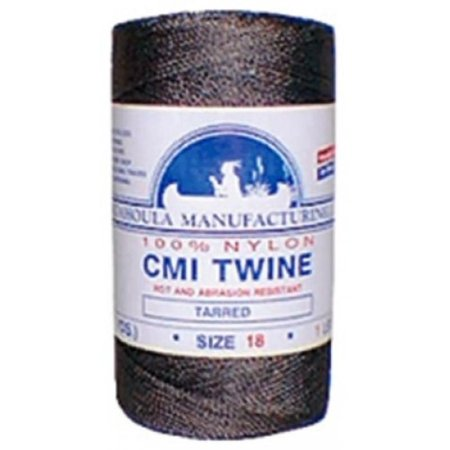 - Catahoula Manufacturing #36 Tarred Twisted Nylon Twine (Bank Line) 117' Spool, 348lb Test