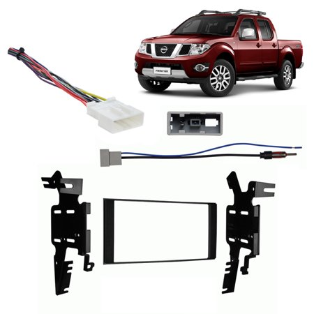 - Fits Nissan Frontier 13-14 Double DIN Stereo Harness Radio Install Dash Kit