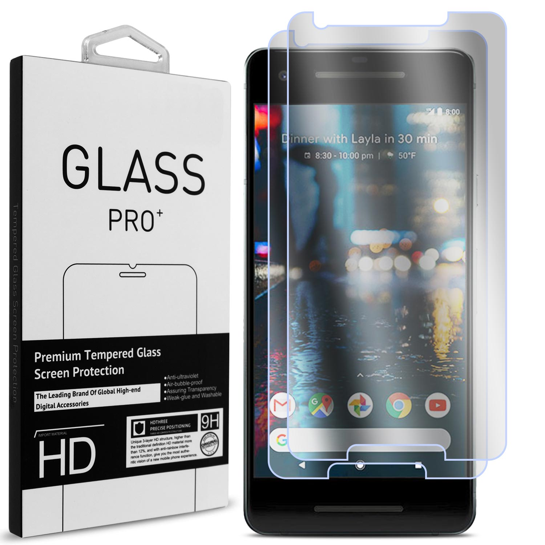 2 Pack of CoverON Google Pixel 2 Tempered Glass Screen Protectors - Premium Grade 9H Tough - HD Clear