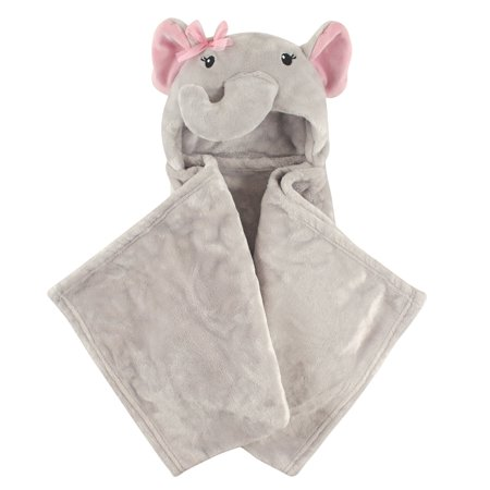 Hudson Baby Boy and Girl Animal Hooded Blanket - Pretty Elephant