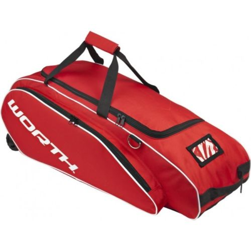 Worth Sports TPWBC Tournament Baseball/Softball Wheeled Equipment Bag (Scarlet Red)