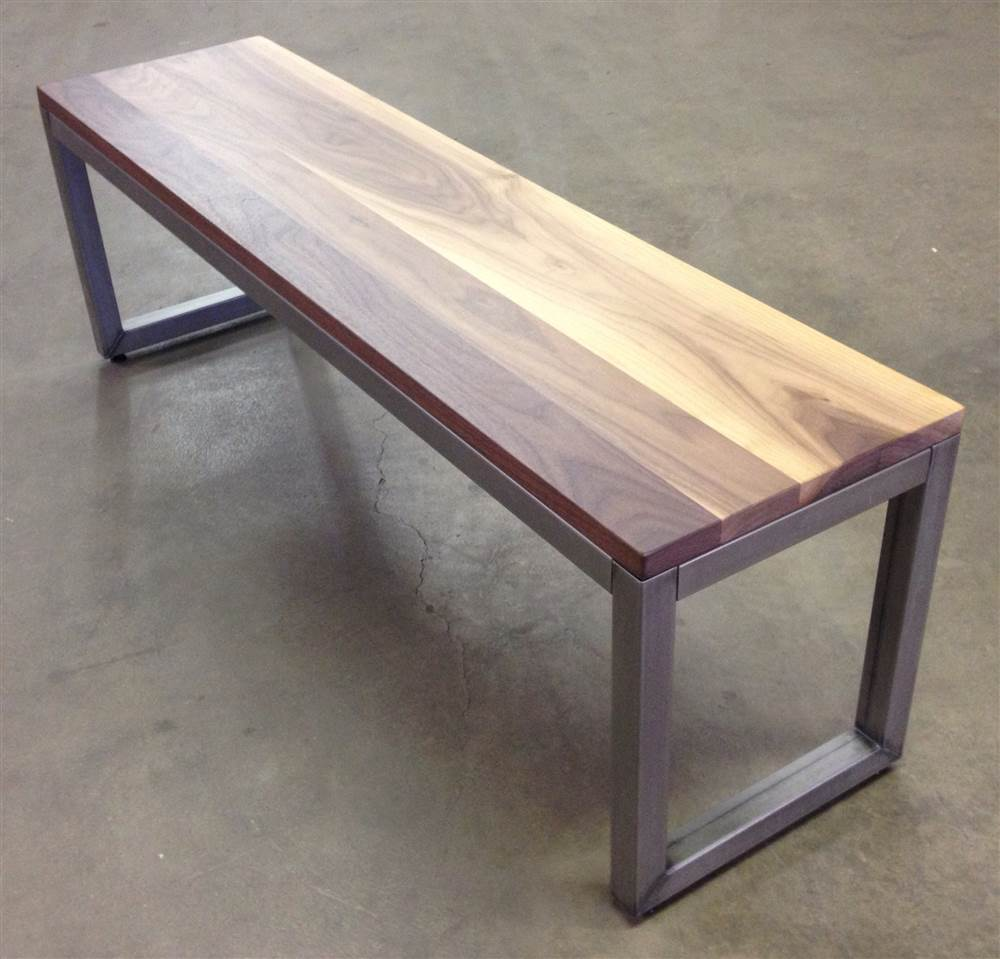 54 in. Dining Bench in Metal Finish