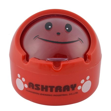 Unique Bargains Phenolic Resin Ball Shaped Home Office  Ash Holder Case Ashtray Red
