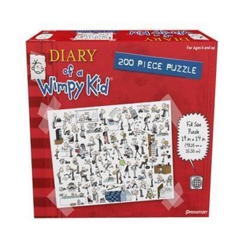 Diary of a Wimpy Kid 200 piece Book One Red Puzzle by Pressman Toy by