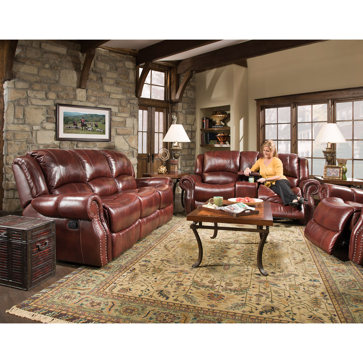Cambridge Telluride 3 Piece Living Room Set: Sofa, Loveseat And Recliner