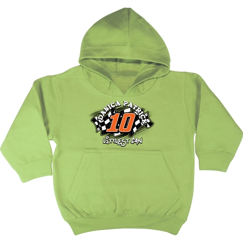 Checkered Flag Danica Patrick Toddler Littlest Fan Pullover Hoodie - Green