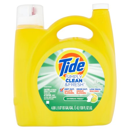 Tide Simply Clean   Fresh He Liquid Laundry Detergent  Daybreak Fresh Scent  89 Loads  138 Oz