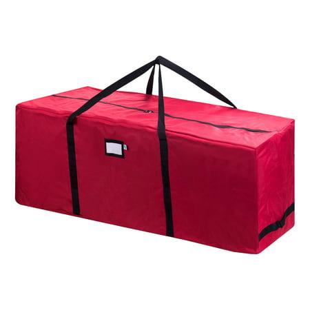 Elf Stor Premium Red Rolling Christmas Tree Storage Duffel Bag for 12 Ft Tree